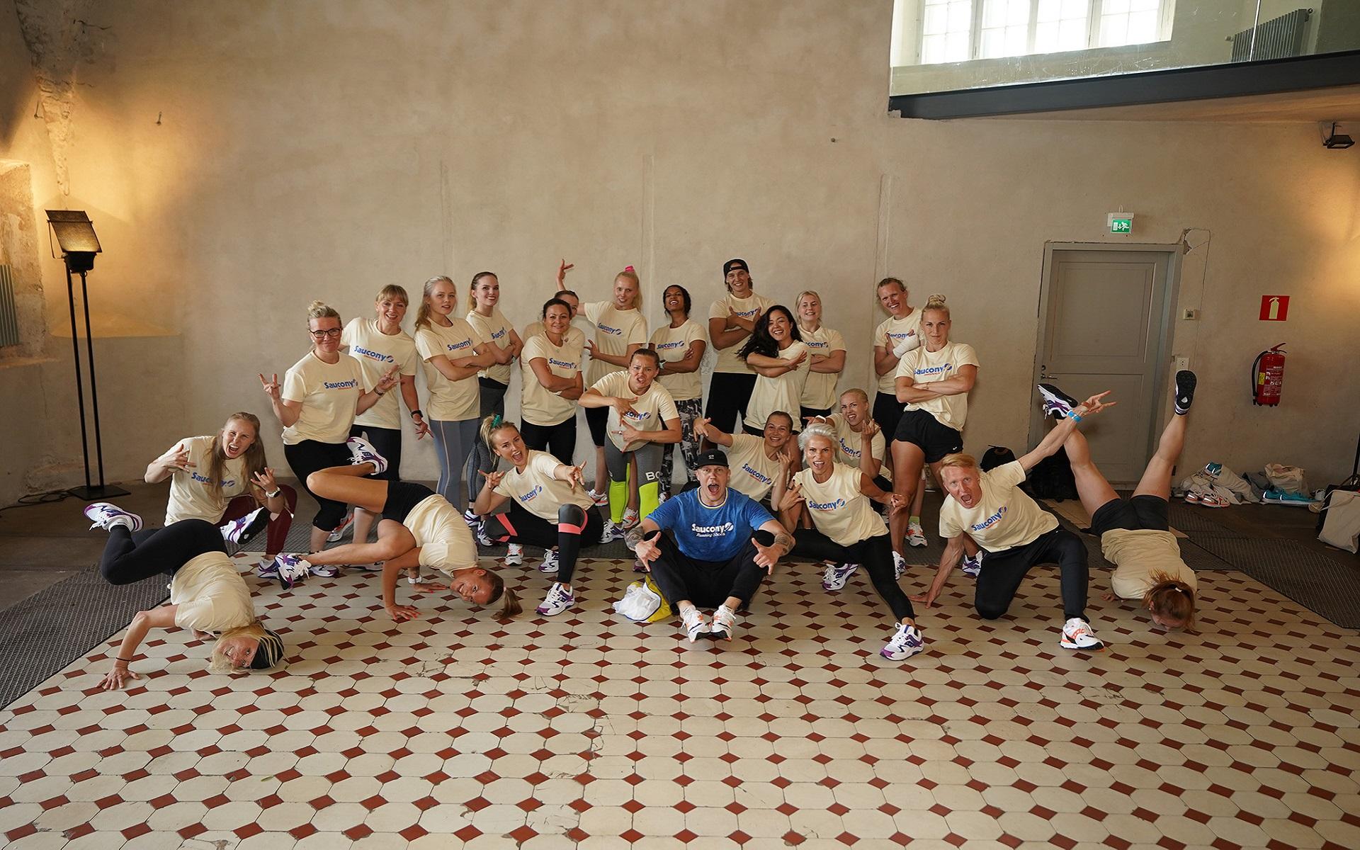 Sauconyn juoksukoulu ja breikkisessio Suomenlinnassa